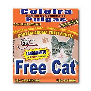 Coleira para Gato Antipulga 36cm Free Cat