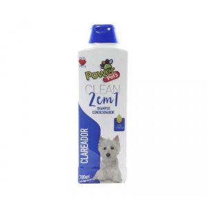 Shampoo/Condic P/Cães Power Pets 700ml Clareador