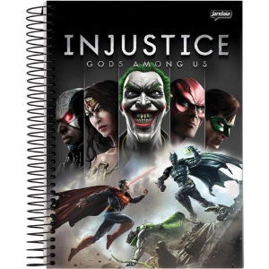 Caderno Universitário 10m 200f Cd Jandaia Dc Comics Injustice