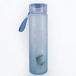 Garrafa Squeeze 500ml Degrade Com Alça Azul
