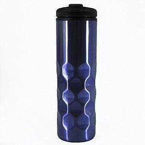 Garrafa Squeeze 500ml Inox Azul