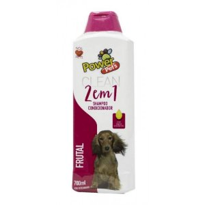Shampoo/Condic Filhote Power Pets 700ml  Frutal