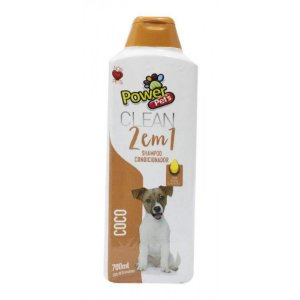 Shampoo/Condic Filhote Power Pets 700ml Coco