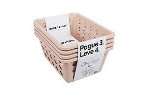 Cesta Pequena em Polipropileno Coza Pague3 Leve4