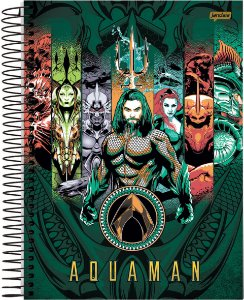Caderno Universitário 10m 200f Cd Jandaia Aquaman