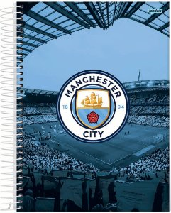 Caderno Universitário 10m 200f Cd Jandaia Manchester City
