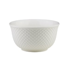 Bowl de Porcelana Lyor New Bone Dots Branco