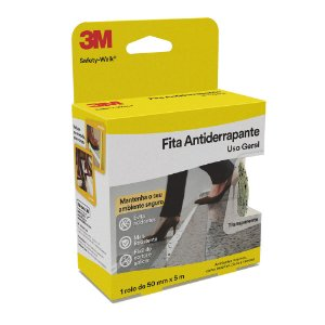 Fita Antiderrapante 3M Transparente 50mm 5m Safety Walk