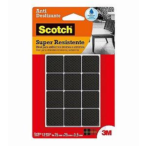 Feltro Antideslizante 3M Scotch Quadrado 25 x 25mm