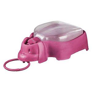 Bebedouro Plástico Sanremo Portátil 330ml Rosa