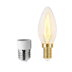 Lâmpada Vintage LED 3W Ambar B35 c/Adap E27