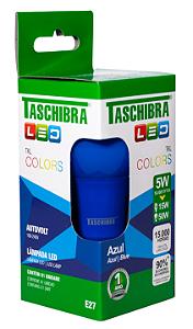 Lâmpada Led Taschibra Tkl Colors E-27 5W Azul