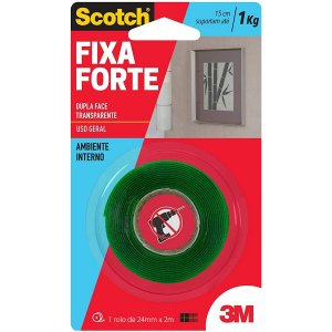 Fita Ades Dupla Fc 3M Scotch 24mm 2m Fixa Forte