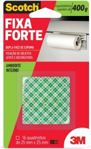 Fita Dupla Face Espuma 3M Scotch 25mm x 16un Fixa Forte