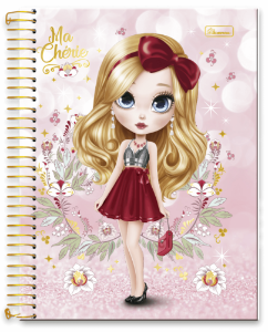 Caderno Universitário 10m 200f Cadersil Ma Cherie