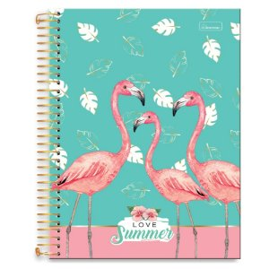 Caderno Universitário 10m 200F Cd Cadersil Love Summer