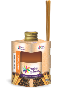 Difusor Tropical Aromas  250ml Cravo e Canela