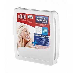 Armário Banheiro Herc Com Espelho Branco 2650