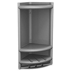 Porta Shampoo Pvc Herc 4011 Cinza