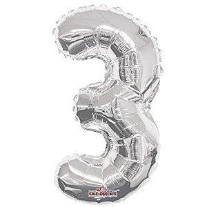 Balão Metalizado Minishape Regina N3 Prata