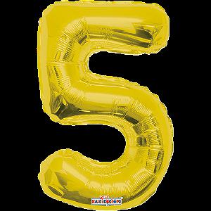 Balão Metalizado Minishape Regina N5 Dourado
