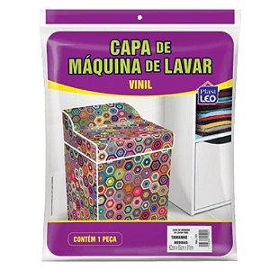 Capa Máquina Lavar Estampada Plast Leo Vinil P