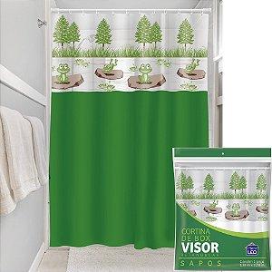 Cortina Box Visor Transparente Plast Leo Sapos