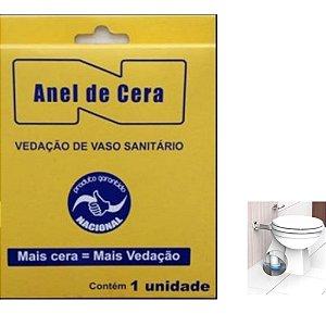 Anel Vedação Vaso Sanitário c/Guia Nacional Cera