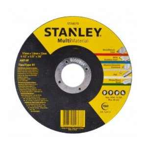 Disco Corte Stanley Multimaterial 115x1,0x22mm