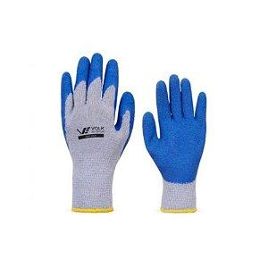Luva Algodão Revestimento Látex Volk N10 Grip Azul
