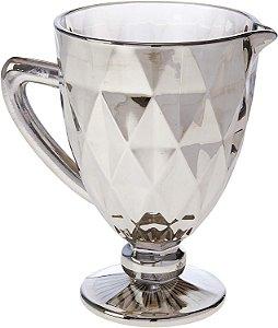 Jarra Lyor Vidro Diamond 1100ml Cz Metalizado