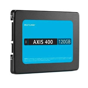 "SSD Multilaser 2,5"" 120GB AXIS 400 Gravação 400 MB/S SS101"