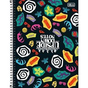 Caderno Espiral Capa Dura Universitário 1 Matéria Stranger Things 80 Folhas- Tilibra