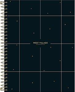 Caderno Espiral Capa Dura Colegial 10 Matérias 160 Folhas West Village - Tilibra