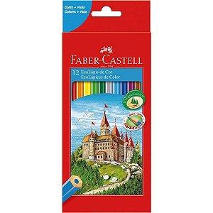 Faber-Castell Lapis de Cor Sextavado Ecolapis 12 Cores S/kit