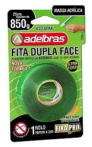 Fita Dupla Face Fixa Pro Espuma 19mmx2m Unid