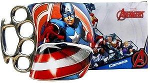 Caneca Soco Capitao America Avengers Marvel 350ml