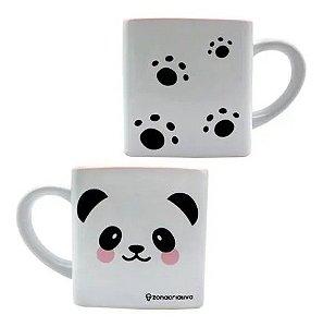 Caneca Cubo Panda Cerâmica 300ml