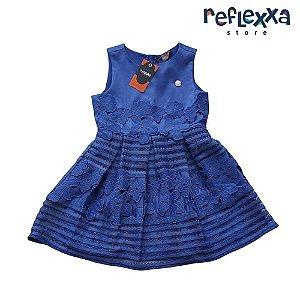 Vestido infantil menina mundi azul
