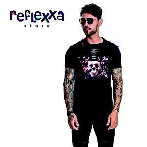 Camisa TFLOW Skull & Roses Preta