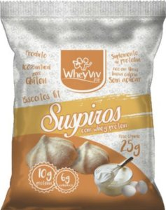 Biscoitos Fit Suspiro com Whey Protein - 25g - WheyViv