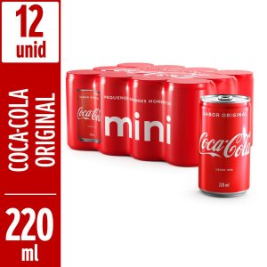 Coca Normal 220 ML (Pack Com 12 Unidades)