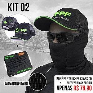 Kit 2 - Boné Fpf Trucker Clássico +Buff Fpf Black Edition