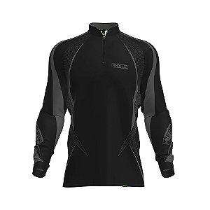 Camisa de Pesca Fpf Proteção Solar Black Edition Preta
