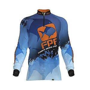 Camisa Fpf Proteção Solar Sport Fishing Azul