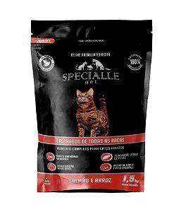 RAÇÃO SPECIALLE CAT SALMÃO CASTRADO 1,5kg