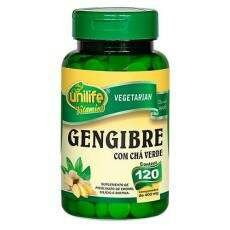 Gengibre com Chá Verde 120 comp 400mg Unilife