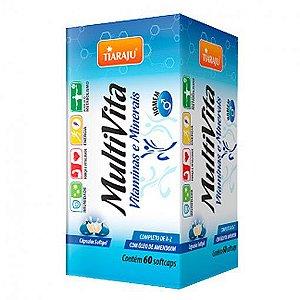 MultiVita com óleo de amendoim 60caps homem Tiaraju