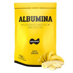 Albumina - Naturovos 500g  - Sabor Banana