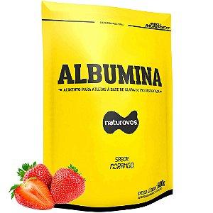 Albumina - Naturovos 500g  - Sabor Morango